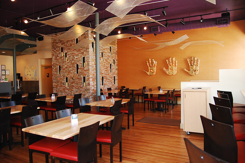 Interior of Tocabe restaurant