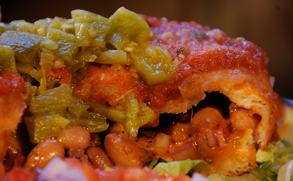 Close up of Indian taco